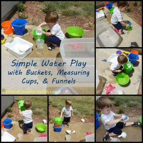 Simple Outside Water Play from Inspiration Laboratories