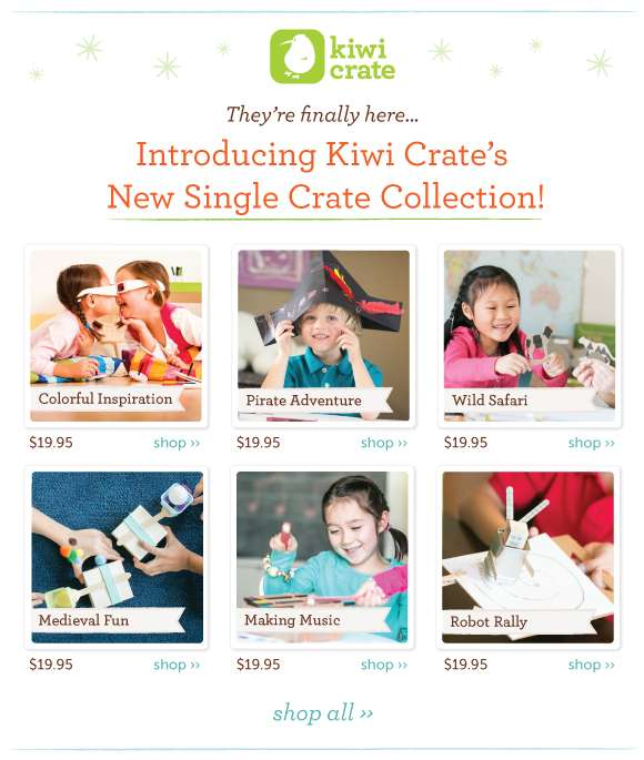 Single Crates now on Sale at Kiwi Crate! shop now ››