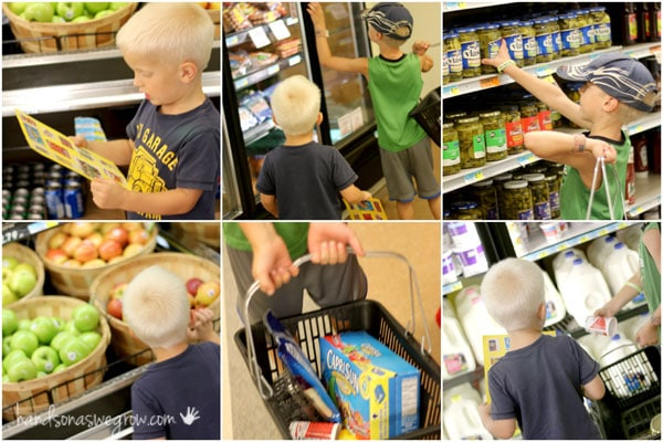 Go on a snack scavenger hunt in the grocery store