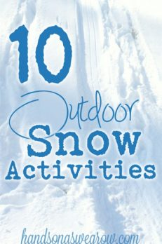 10 fun things for the kids to do outside in the snow
