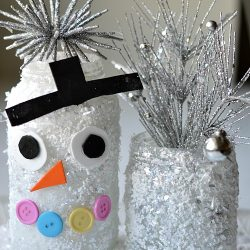 Snowman Jar Craft - Snowman Crafts for Kids