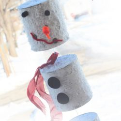 Tin Can Snowman Craft - Snowman Crafts for Kids