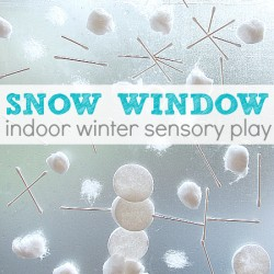 Snow Window - 1 of 40 winter activities for toddlers