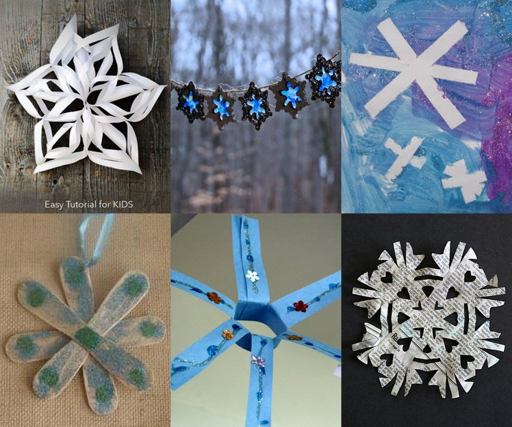 30 snowflake crafts for kids to make