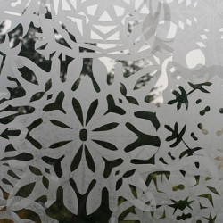 Wax Paper Snowflakes
