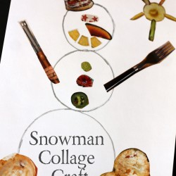 Snowman collage craft - snowman crafts for kids