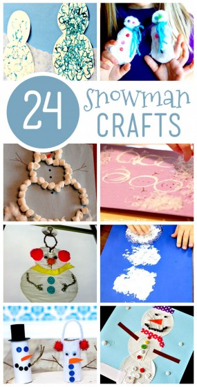 24 snowman crafts for kids to make