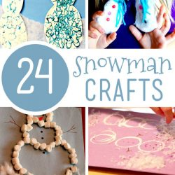24 adorable snowman crafts for kids to make