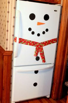 Make a snowman fridge