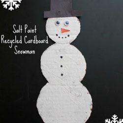 Recycled Cardboard Snowman Craft