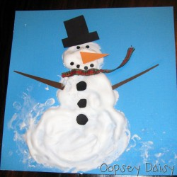 Winter Activities For Toddlers Indoor Snow Painting From Housing A Forest Paint