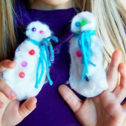 Snowman Puppet Craft - Snowman Crafts for Kids