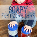 Soapy Sensory Jars Activity for Toddlers