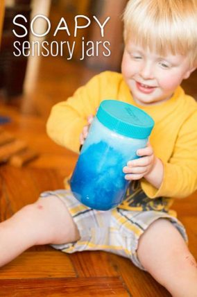 Activities for 18 month olds soapy sensory jars activity for toddlers negle Gallery