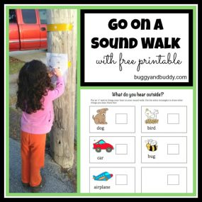 Scavenger Hunt for Kids: Go on a Sound Walk from Buggy and Buddy
