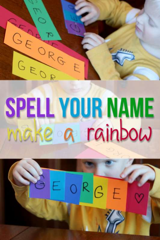More Hands On Kids Activities To Try Learn Spell Your Name And Make A Rainbow