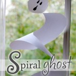 Spiral Ghost Craft with Cutting Practice for Preschoolers