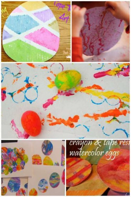 Easter egg art projects for kids to make - plus more spring art projects for kids!