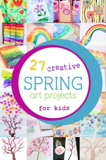 27 Colorful Spring Art Projects for Kids to be Creative