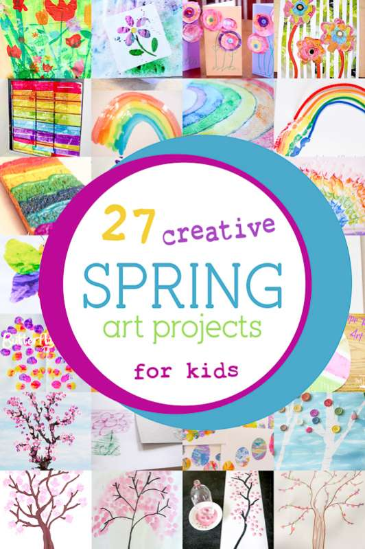 27 colorful spring art projects for kids hands on as we grow - Spring Pictures For Kids