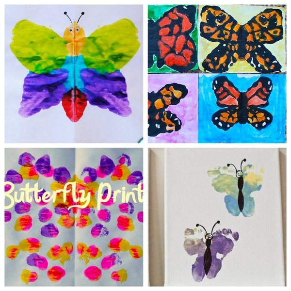Butterfly art projects for kids to make - plus more spring art projects for kids!