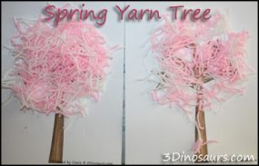 Spring Yarn  Tree with Spring Dot Printables