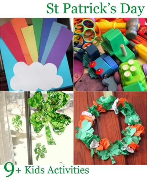 Some fun St. Patrick's Day crafts and activities that the kids can make and do!