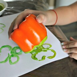 shamrock pepper painting for kids