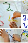 sticky-yarn-fine-motor-activity