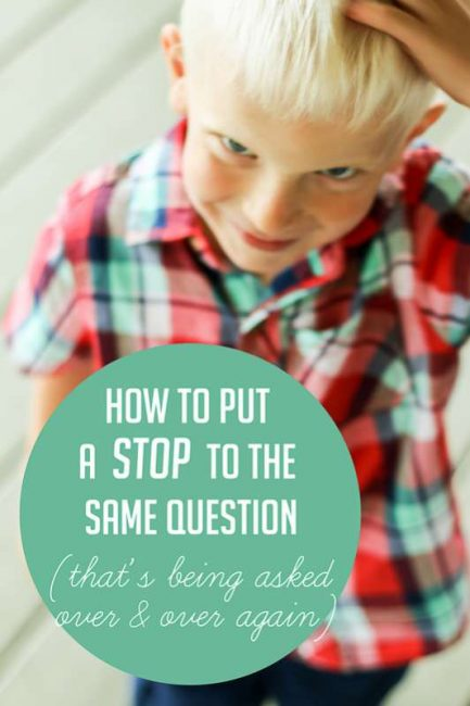 How to stop the same question from being asked over and over (and over) again