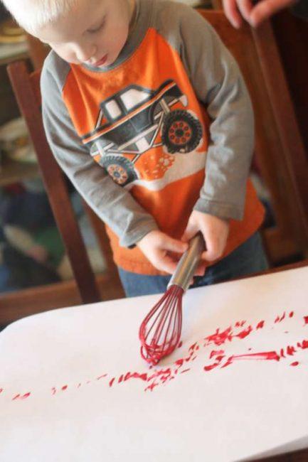 Make art for stuffed heart valentines