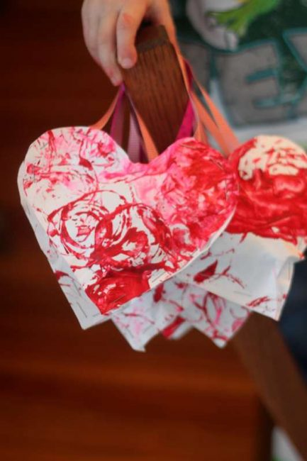 Stuffed Heart Valentines Made with Your Child\'s Artwork