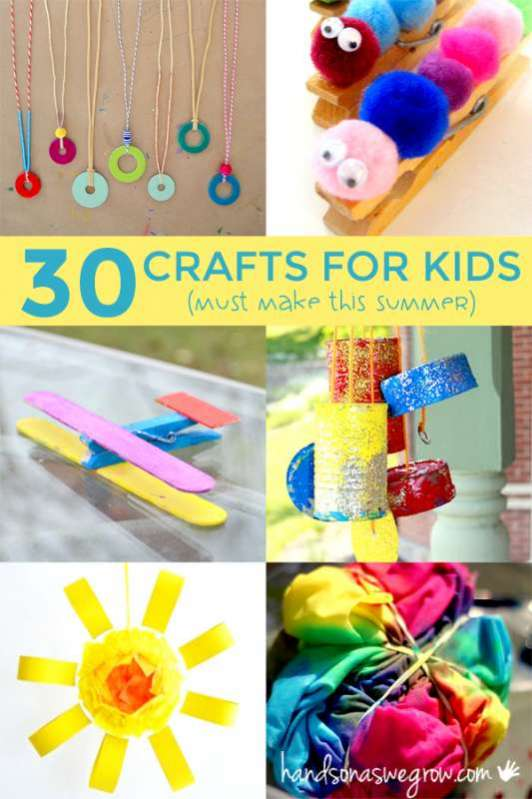 30 summer crafts for kids to make hands on as we grow - Pictures Of Crafts For Kids