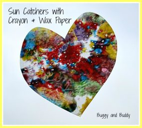 Making Sun Catchers with Crayon Shavings from Buggy and Buddy