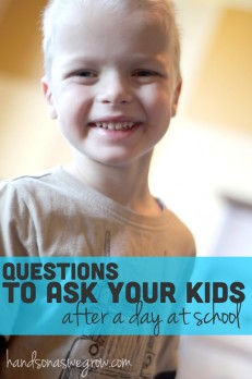 Questions to ask your kids after a day at school