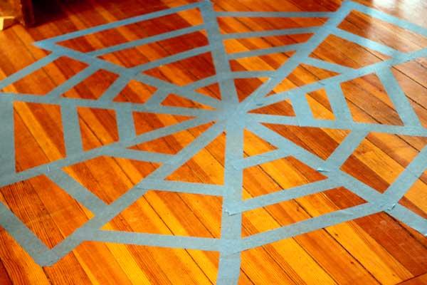 Tape Spider Web