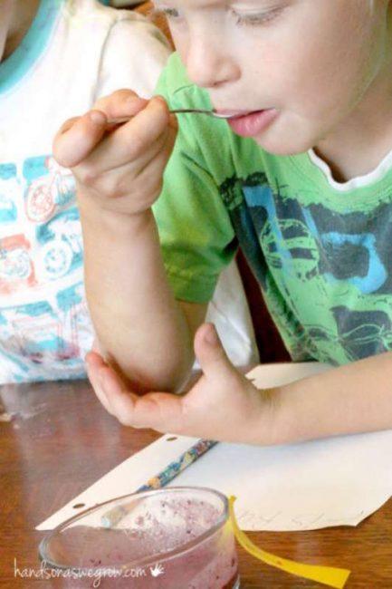 Taste test for kids - what fruit is it?