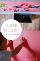 Textured sensory wall for toddlers