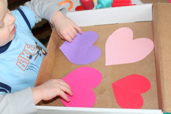 Toddler Shaken Art for Valentine's Day