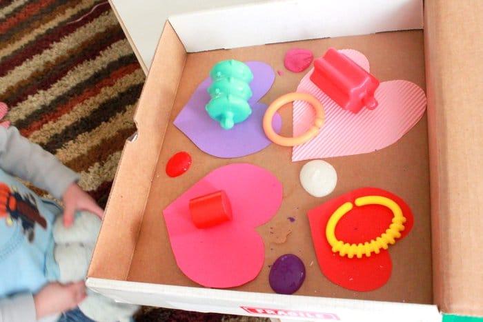 Toddler Shaken Art for Valentine's Day