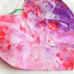 Valentine's Day Shaken Painted Art for Toddlers