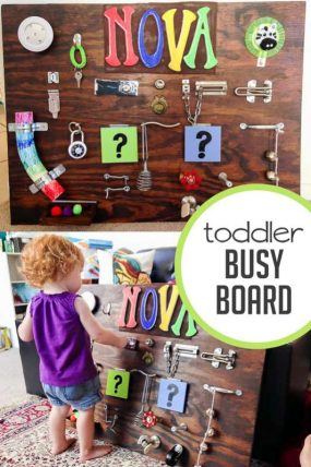 Make a Toddler Busy Board That's Supernova