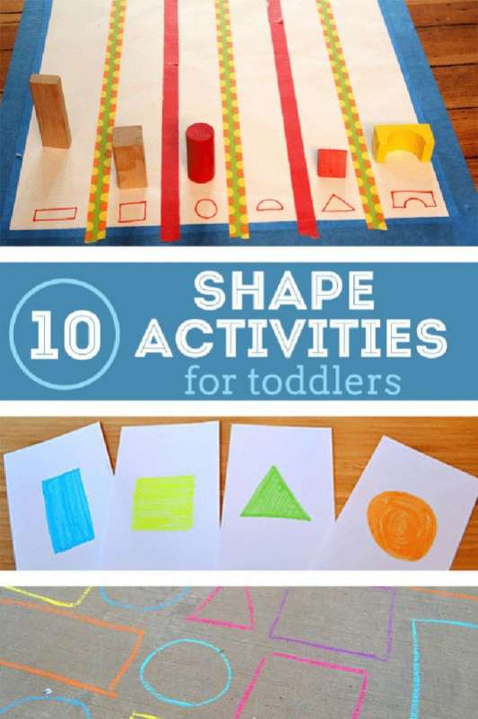 10 Shape Activities for Toddlers! It\'s Hip to be Square!