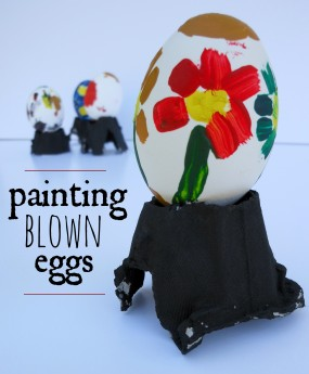 Creative Blown Egg Painting for Kids from A Mom with a Lesson Plan