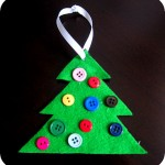 Button Christmas Tree Ornament: Cute & Simple!