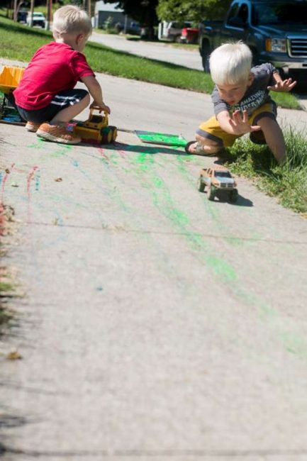 Painting with wheels! Big Art!