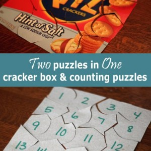 Cracker or Cereal Box and Counting Number Puzzles (1)