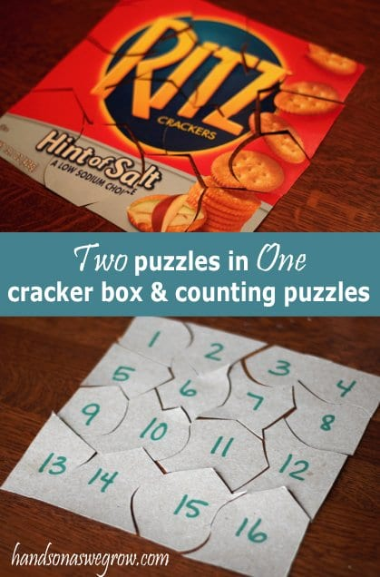 Two for One: Cracker or Cereal Box & Number Counting Puzzles