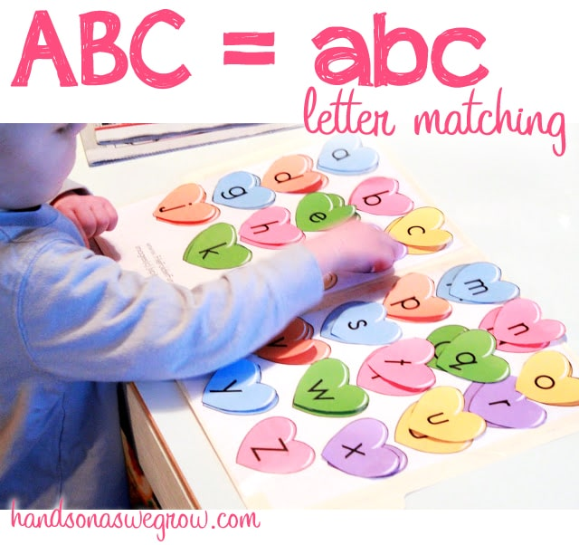 Upper & Lowercase Letters: Heart Matching | Hands On As We Grow