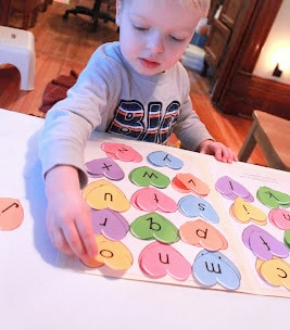 Learn about uppercase and lowercase letters with a fun heart matching activity for preschoolers!